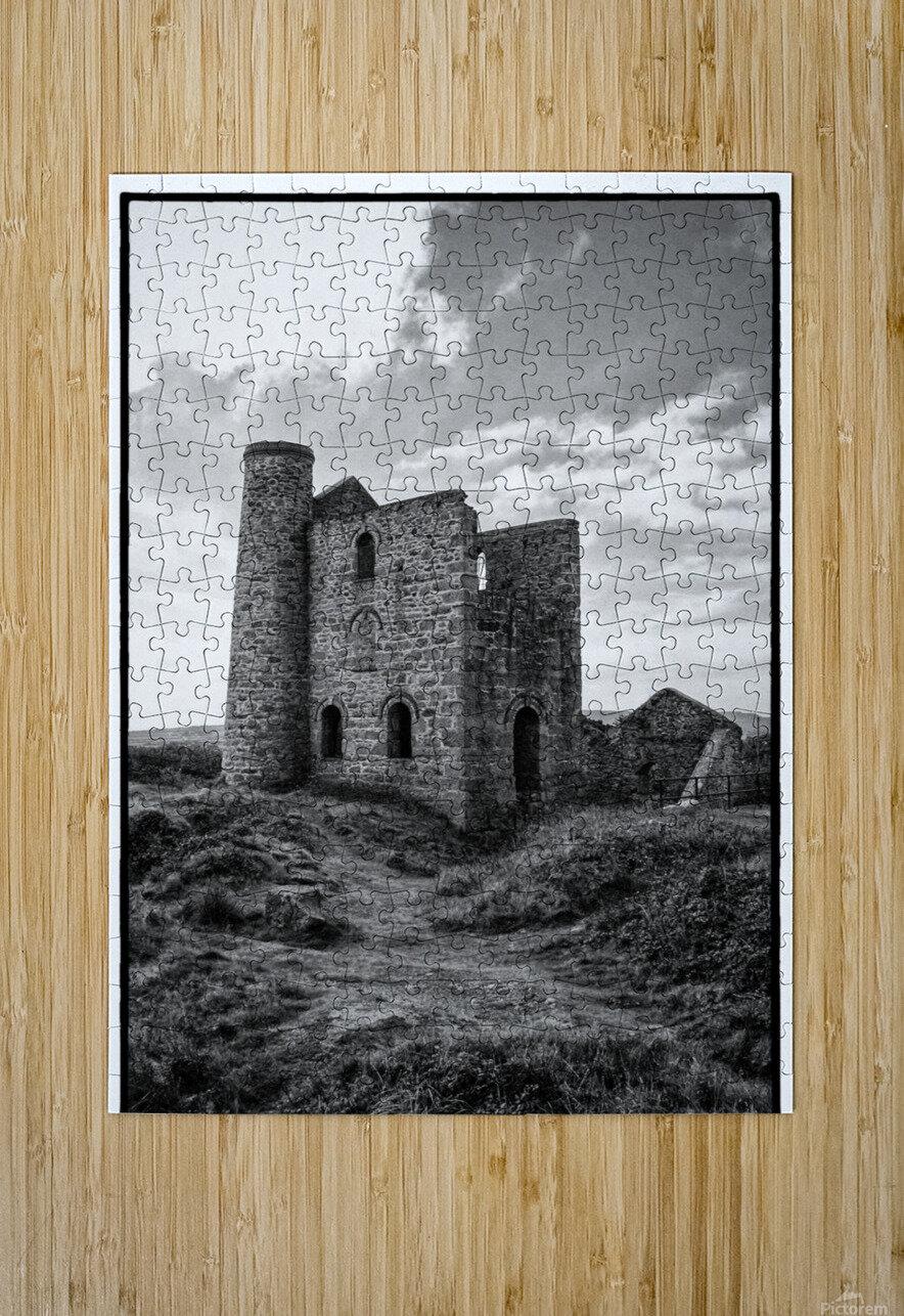 Tin Mine Cornwall  HD Metal print with Floating Frame on Back