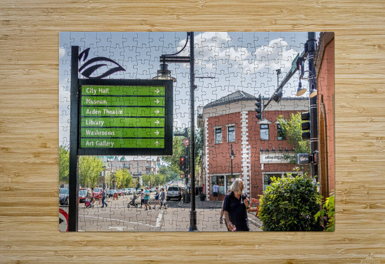 DowntownStAlbert_IMG_4484  HD Metal print with Floating Frame on Back