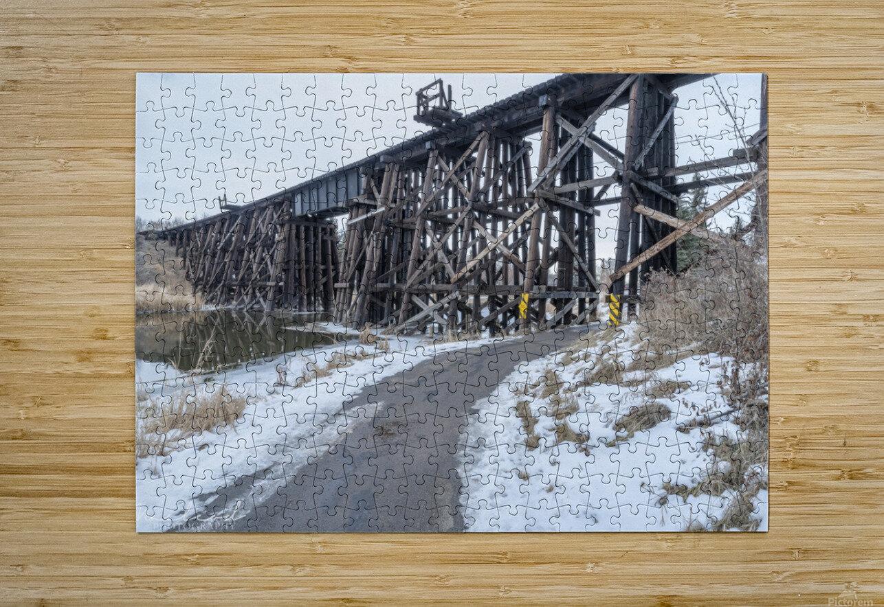 StAlbertTrestle_Nov2018_DSC8625  HD Metal print with Floating Frame on Back