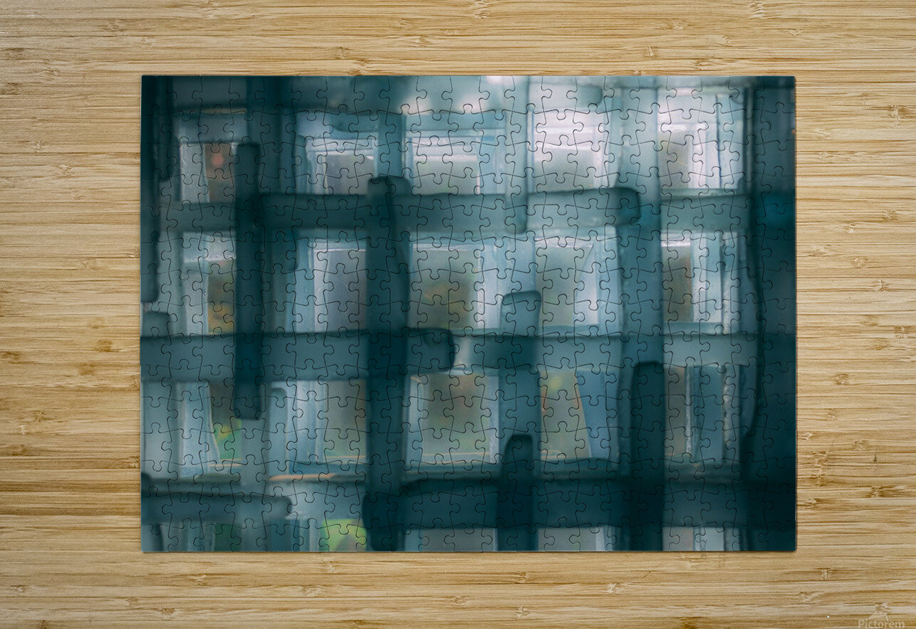 Glass lines 1 triptych  HD Metal print with Floating Frame on Back