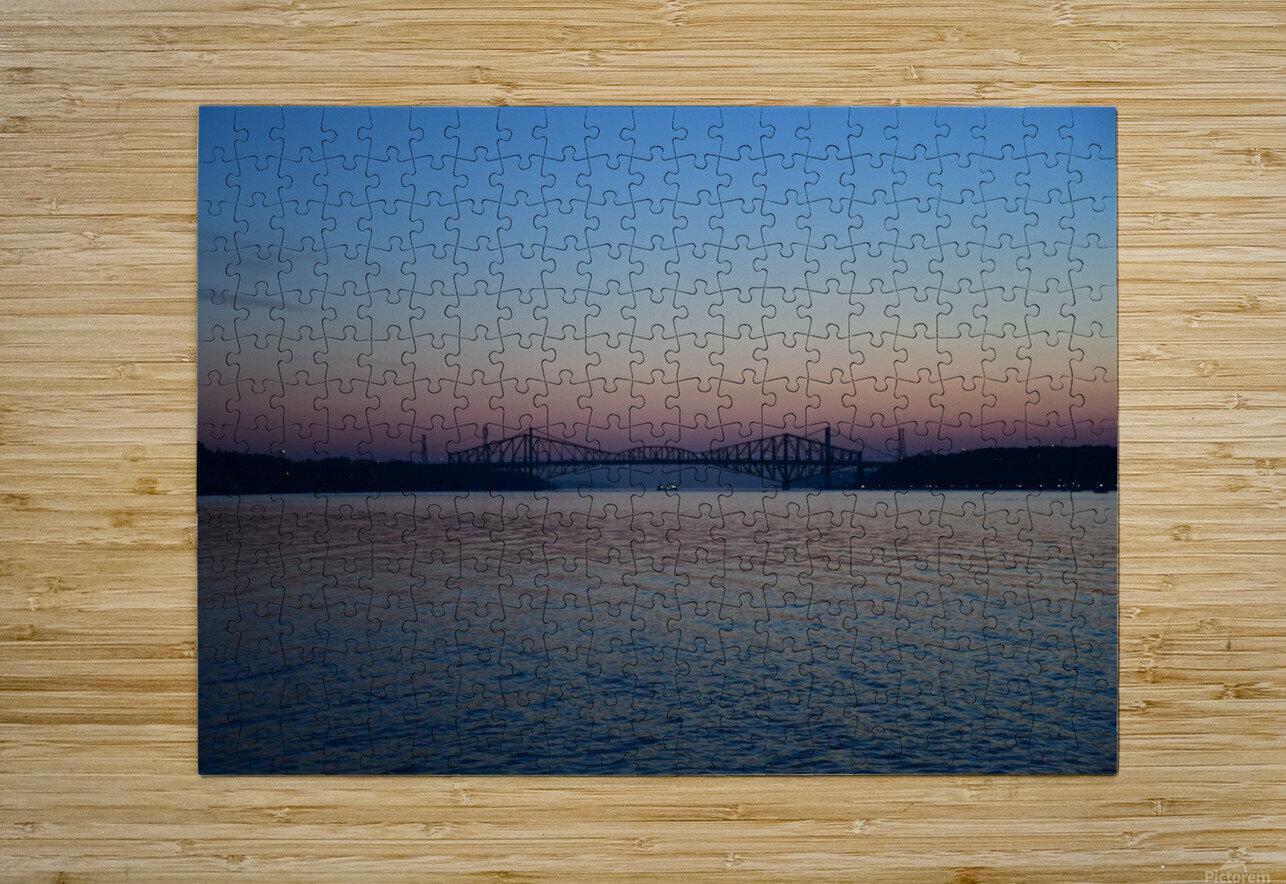 Le pont de Québec a 100 ans  Impression métal HD avec cadre flottant sur le dos