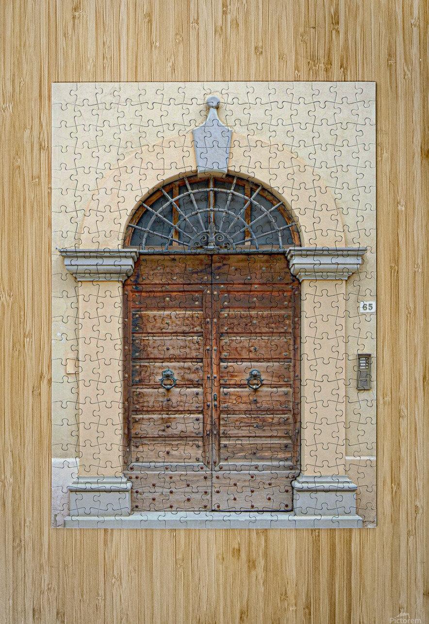 Old Wooden Door Tavernelle  HD Metal print with Floating Frame on Back