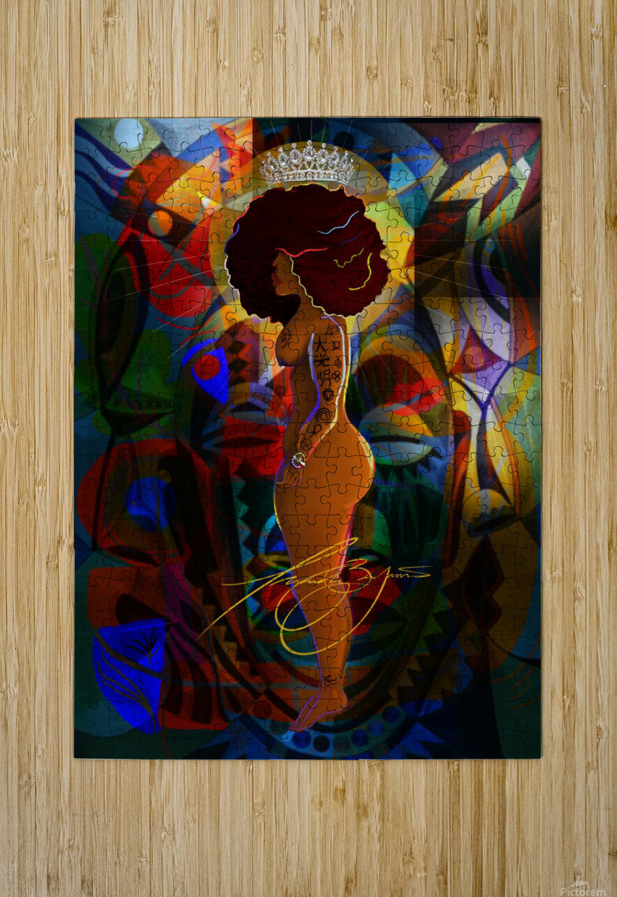 Queen  HD Metal print with Floating Frame on Back