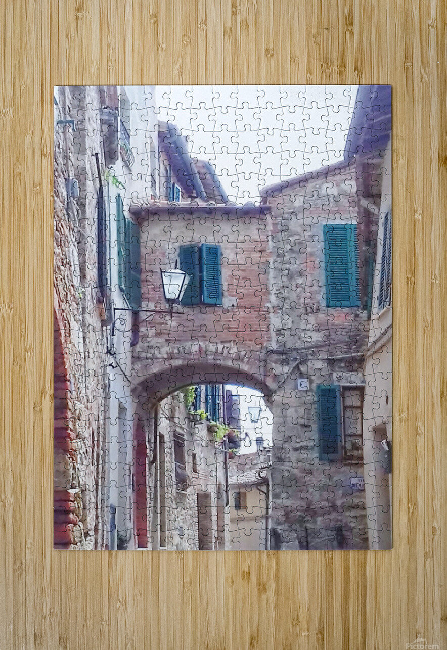 Alleyway Cetona Tuscany  HD Metal print with Floating Frame on Back