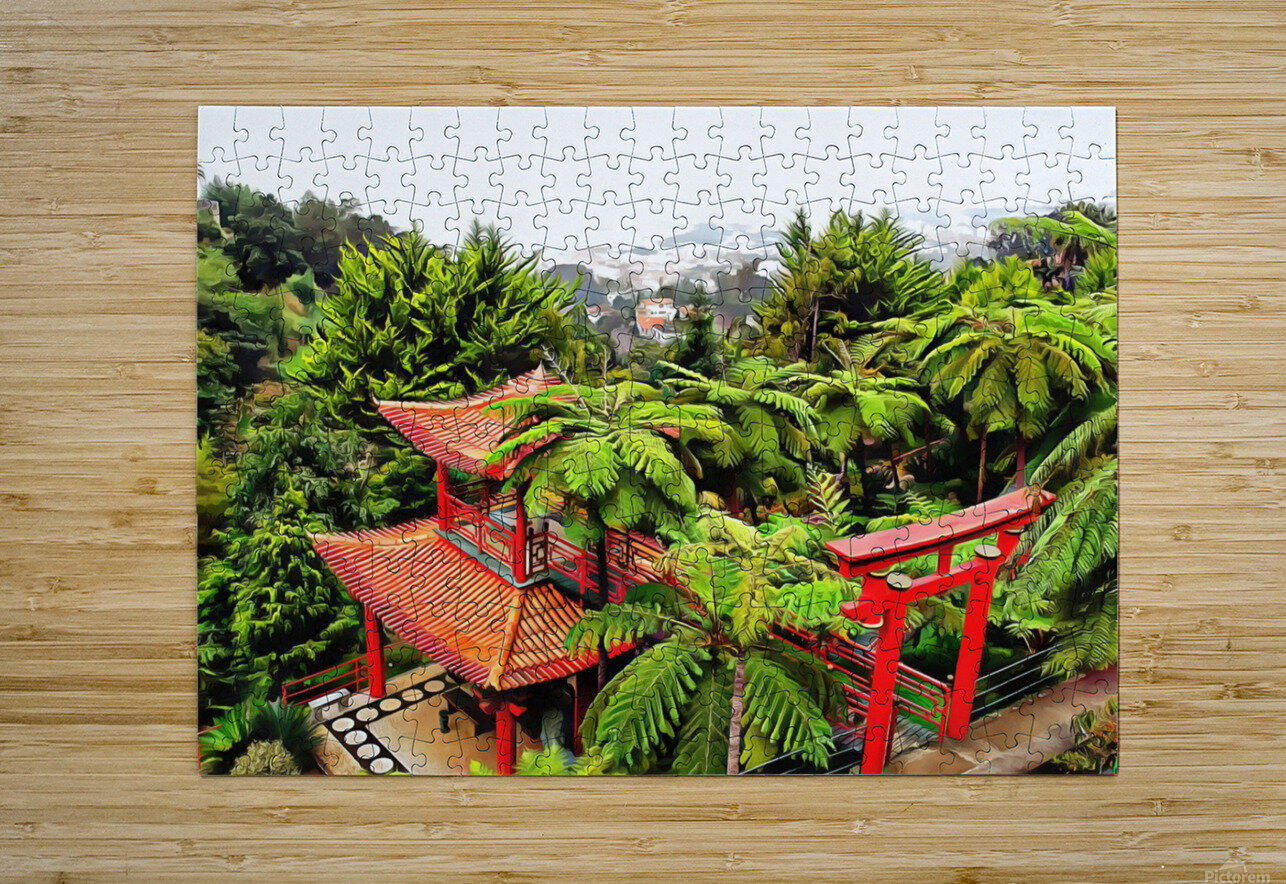 Oriental Gardens Madeira 4  HD Metal print with Floating Frame on Back