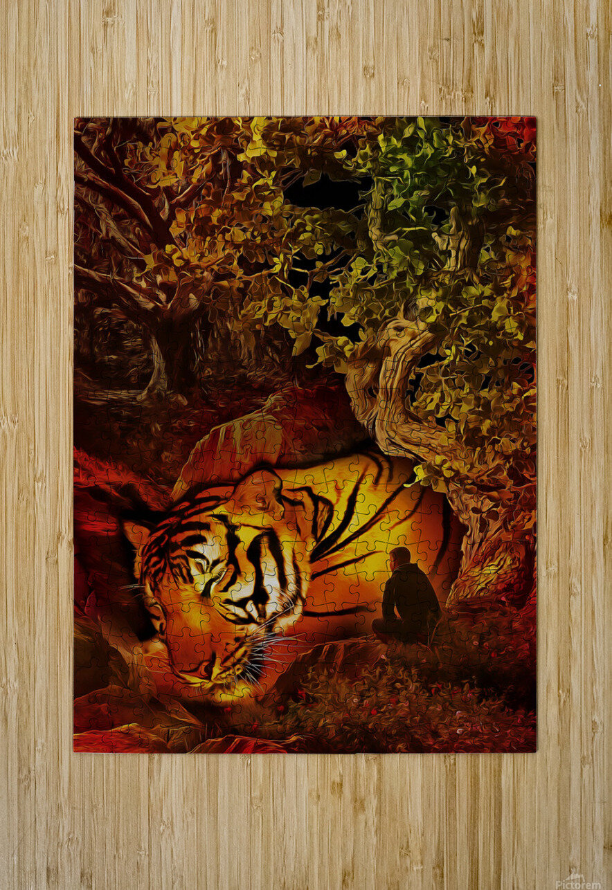 The Guardian  HD Metal print with Floating Frame on Back