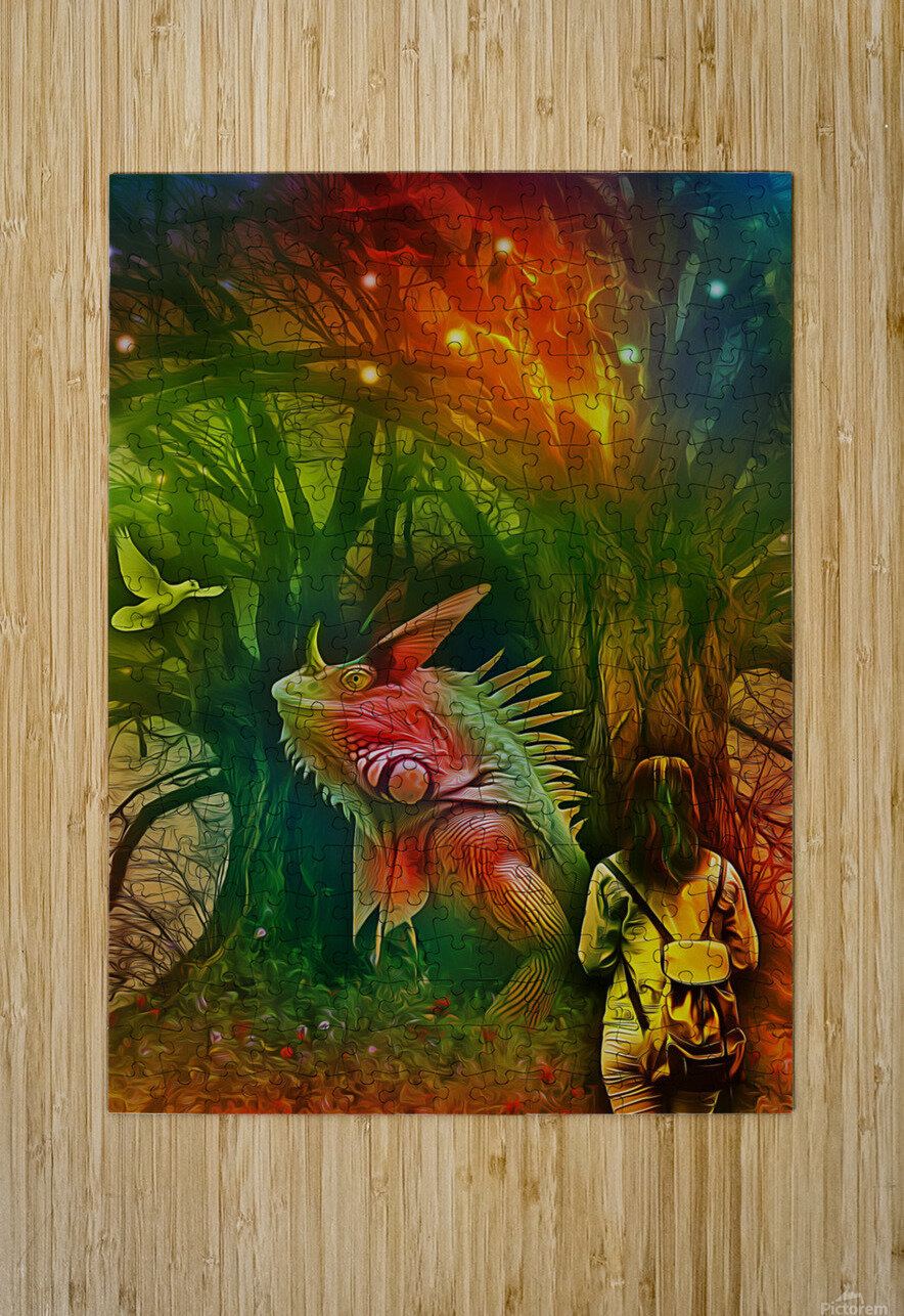 Keeper of the Tree 2  HD Metal print with Floating Frame on Back