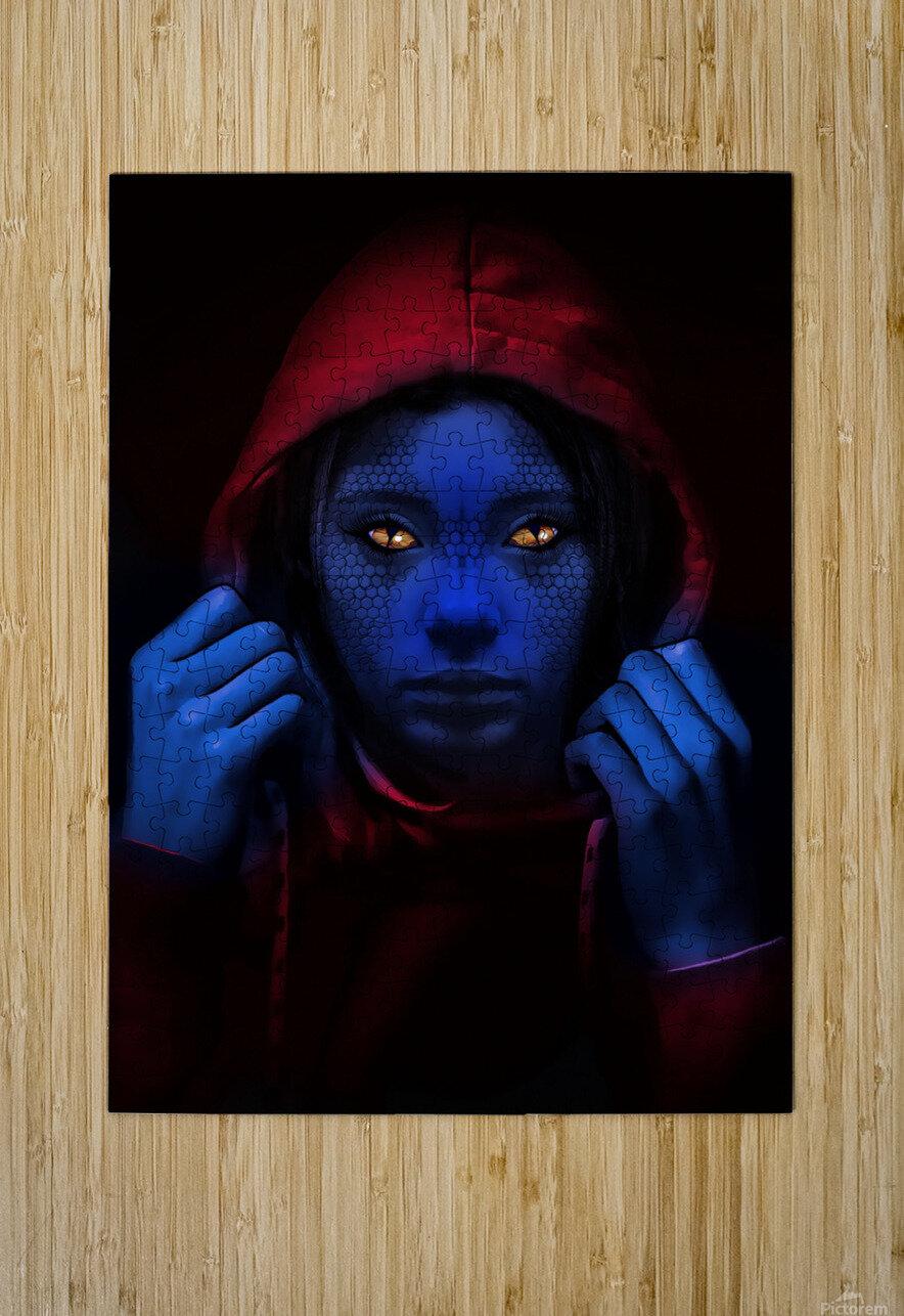 Blue Indigo  HD Metal print with Floating Frame on Back