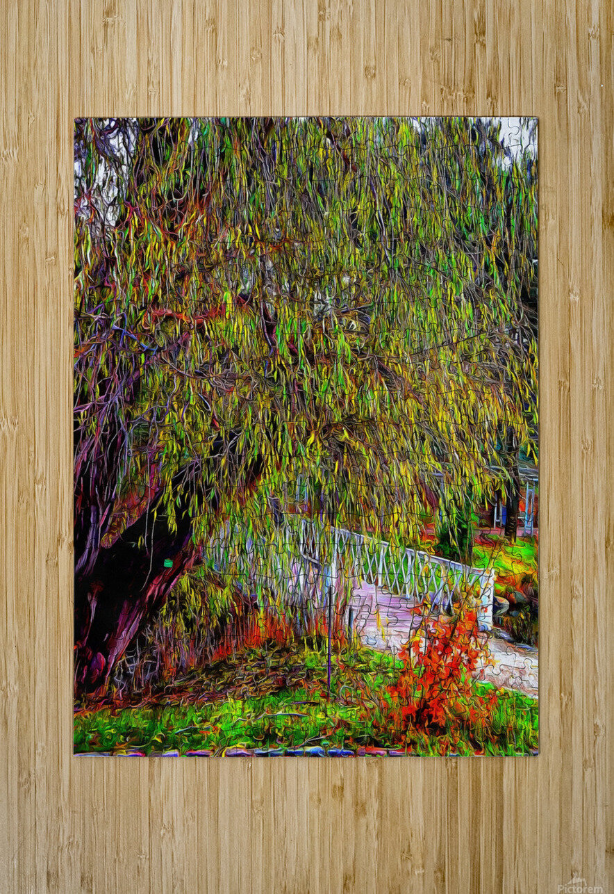 The Willow Bridge  HD Metal print with Floating Frame on Back
