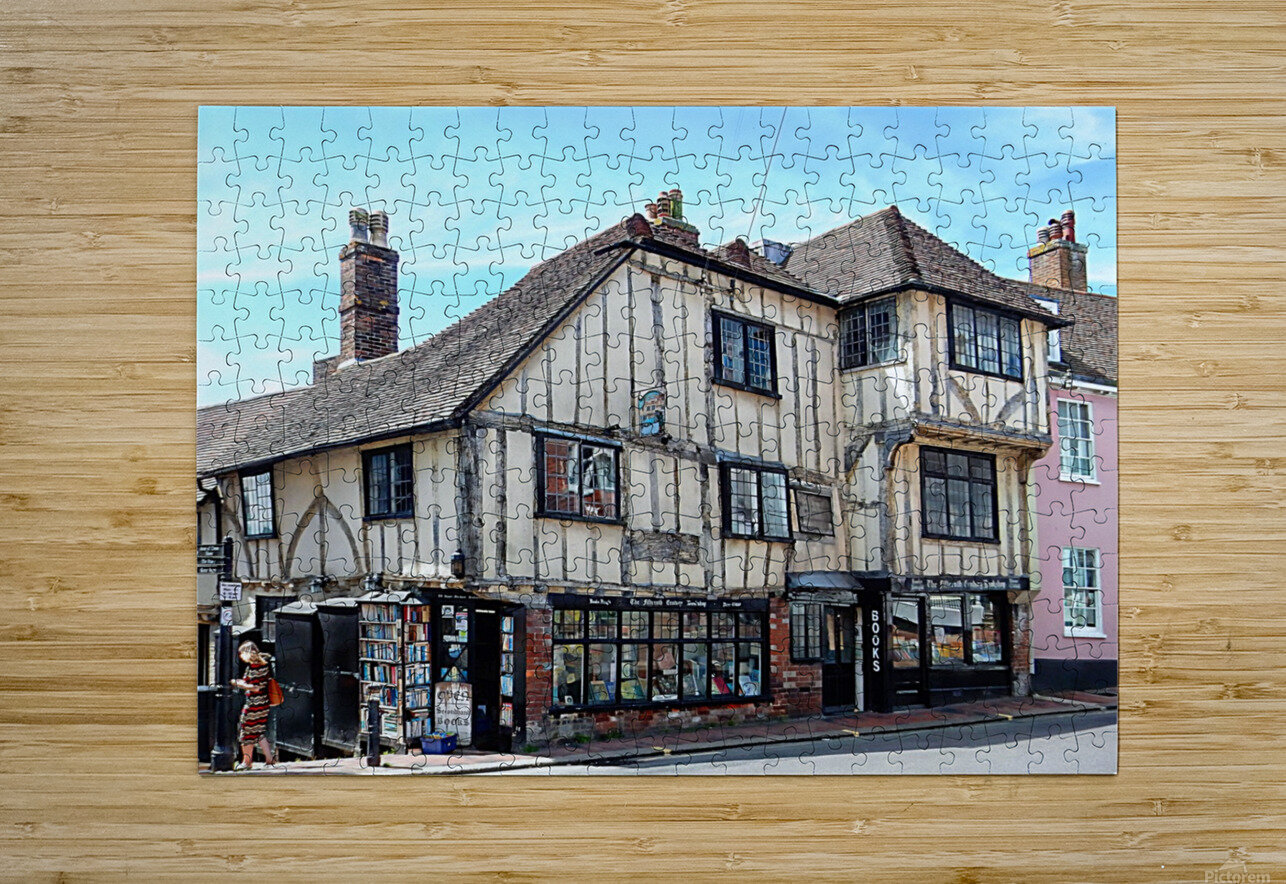 Ye Olde Bookshop Lewes front view  HD Metal print with Floating Frame on Back