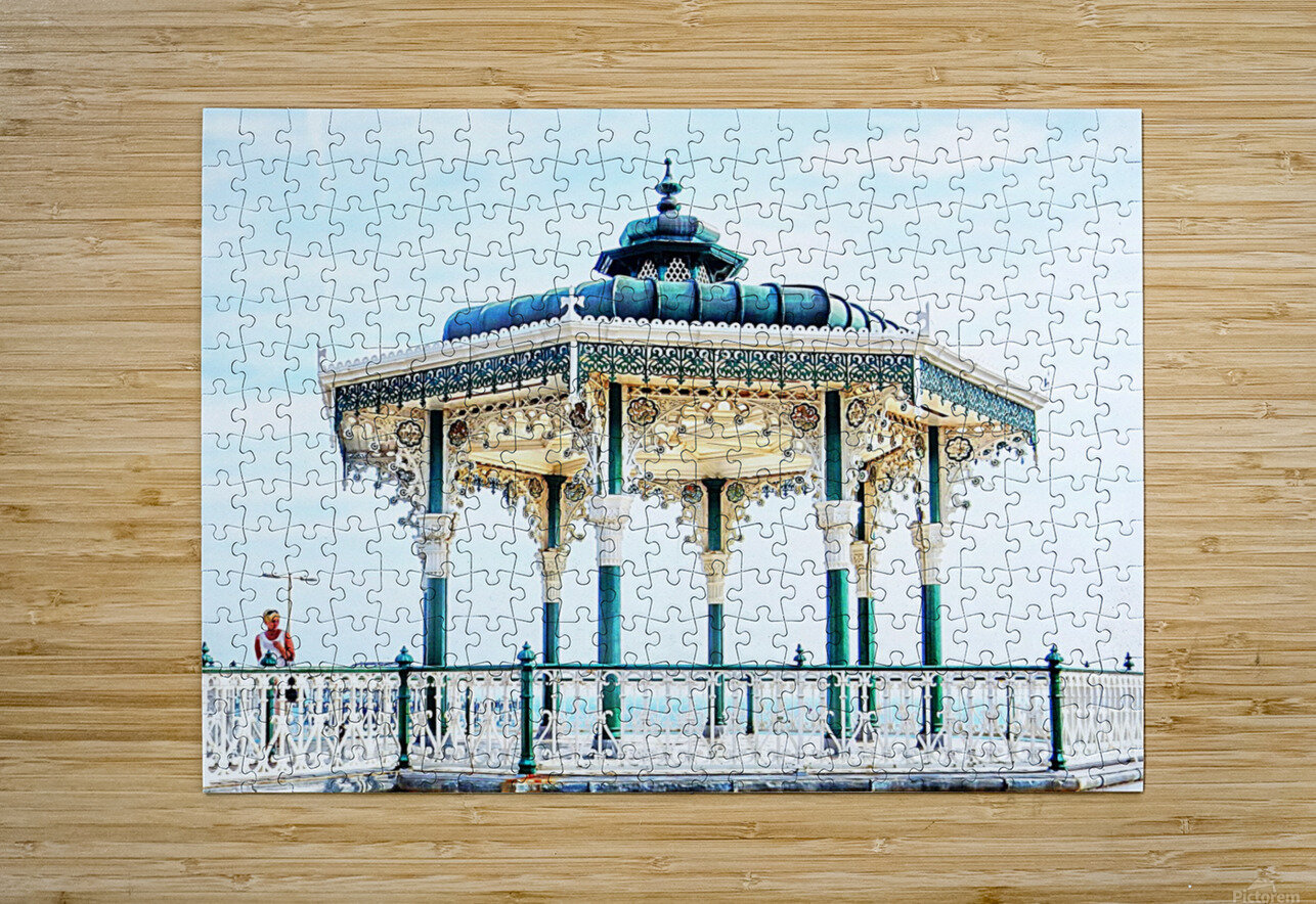 The Bandstand on Brighton Seafront  HD Metal print with Floating Frame on Back