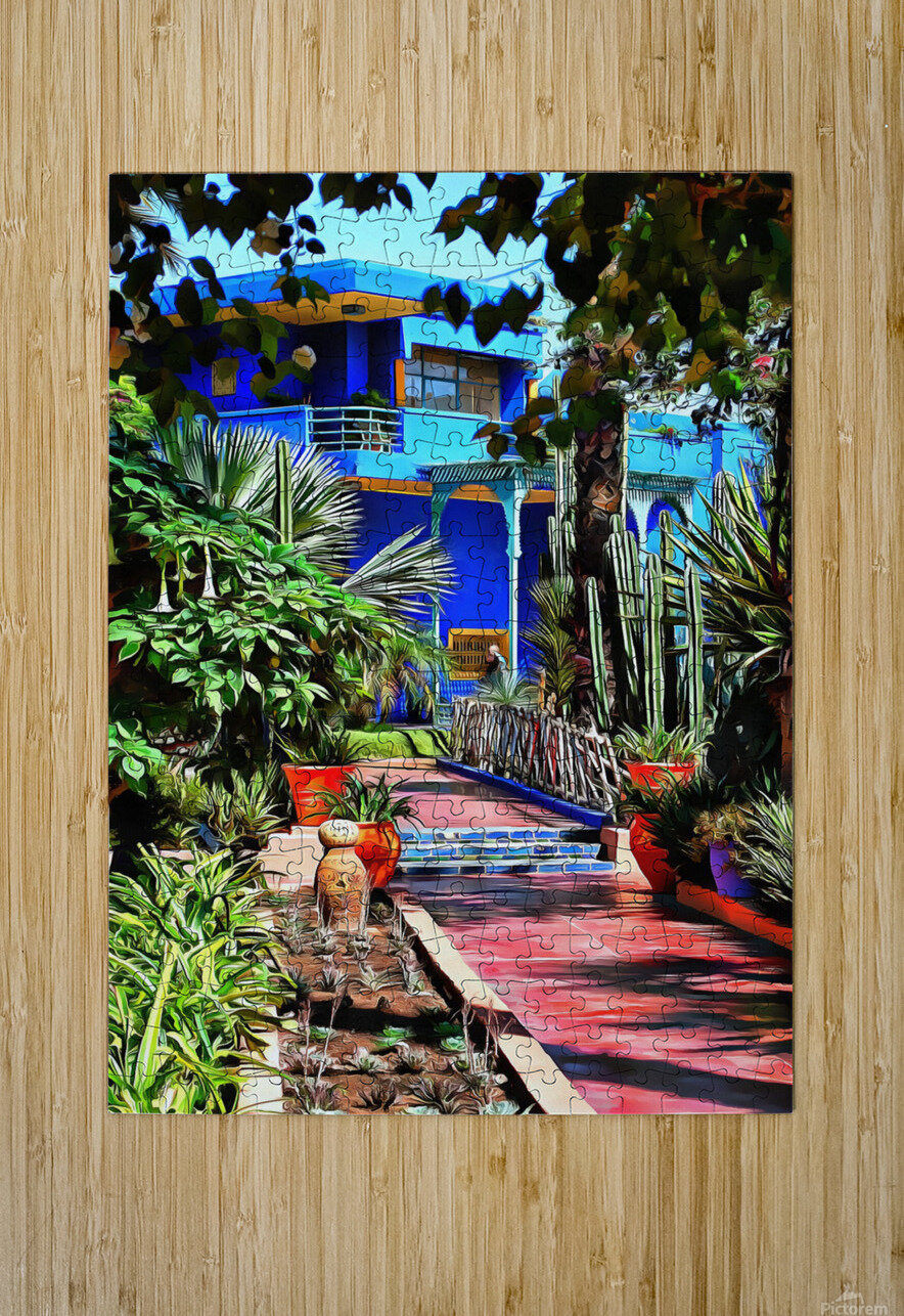 Approach To Cubist Villa Jardin Majorelle  HD Metal print with Floating Frame on Back