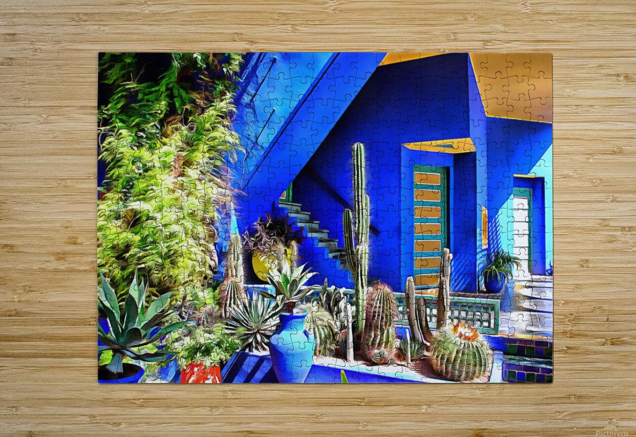 Cubist Villa Jardin Majorelle Marrakech  HD Metal print with Floating Frame on Back