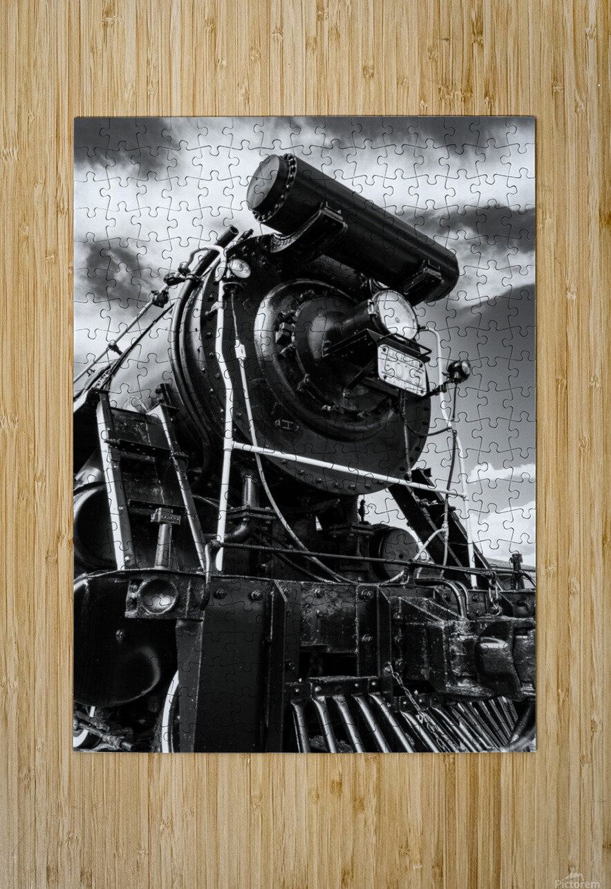 Canadian Steam Locomotive 6015 B  HD Metal print with Floating Frame on Back