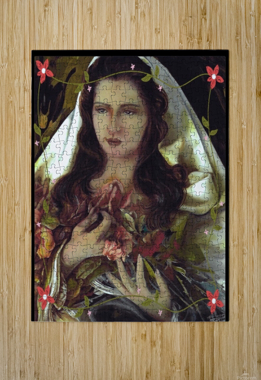 Madonna 12  HD Metal print with Floating Frame on Back