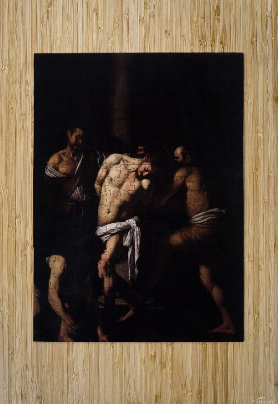 Flagellation of Christ  HD Metal print with Floating Frame on Back