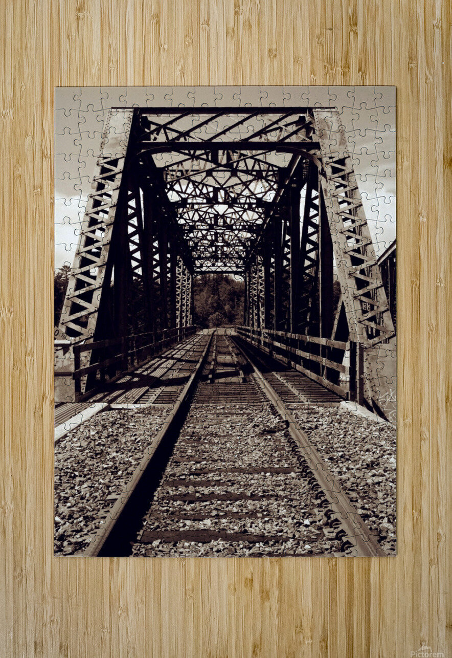 Over the Bridge  HD Metal print with Floating Frame on Back
