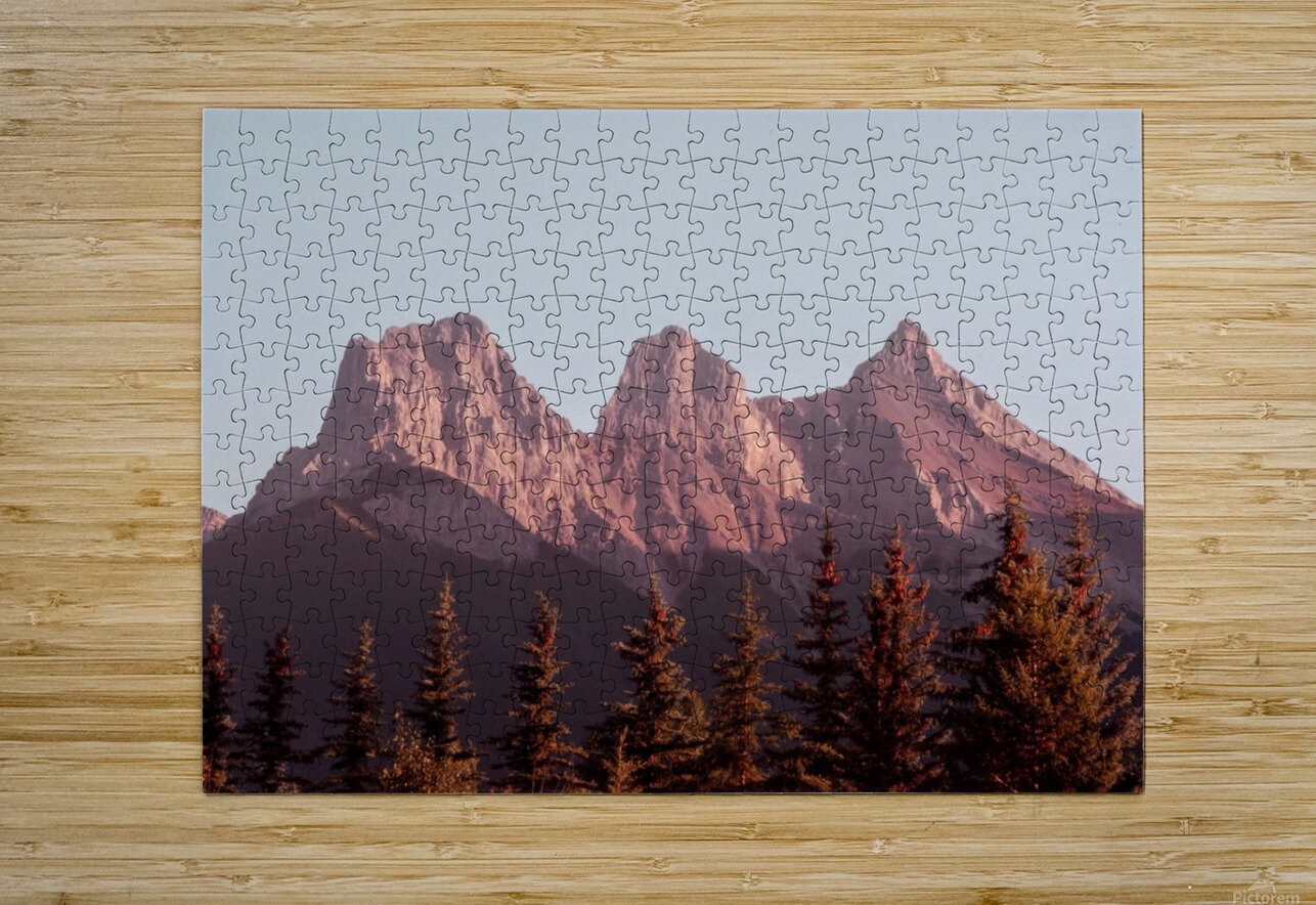 The Three Sisters  HD Metal print with Floating Frame on Back