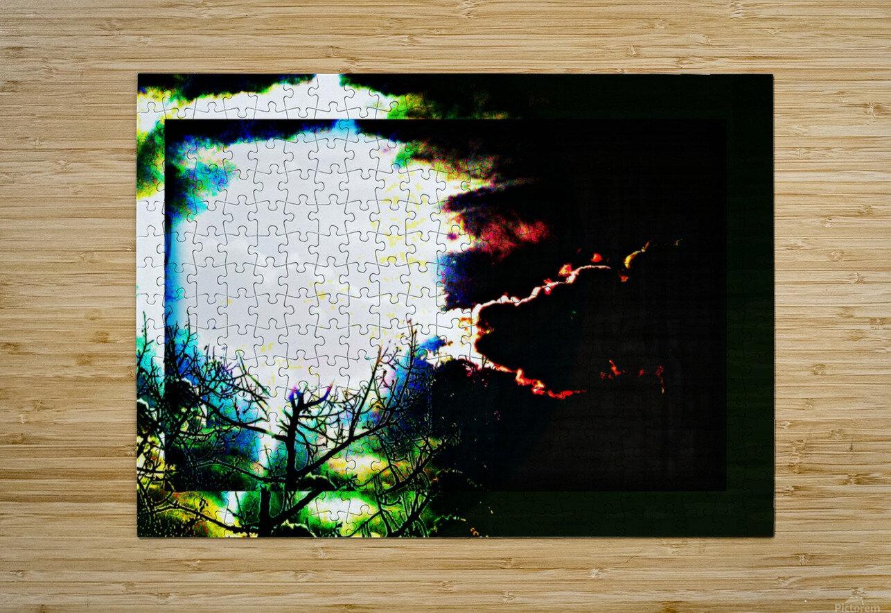 Dark Sun  HD Metal print with Floating Frame on Back
