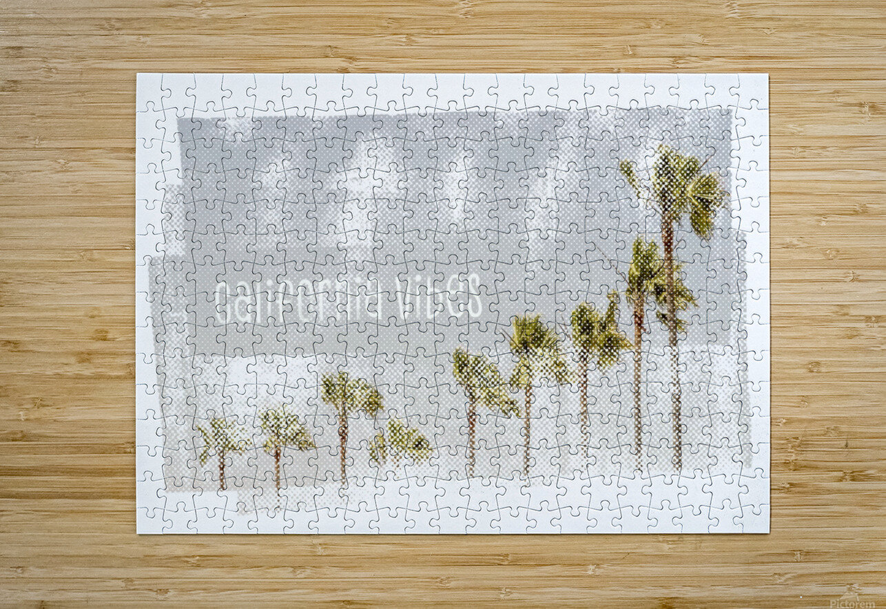 California Vibes   Vintage  HD Metal print with Floating Frame on Back