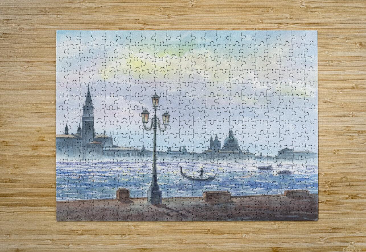 Basilica Di San Giorgio Maggiore And Santa Maria Della Salute Venice Italy  HD Metal print with Floating Frame on Back