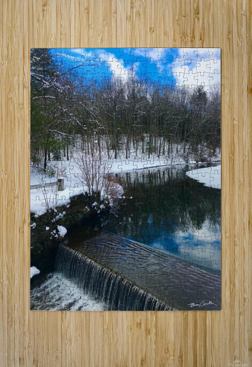SimsburyFalls  HD Metal print with Floating Frame on Back