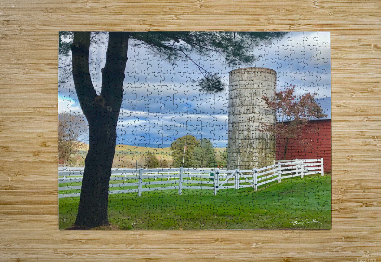 GranbySilo  HD Metal print with Floating Frame on Back