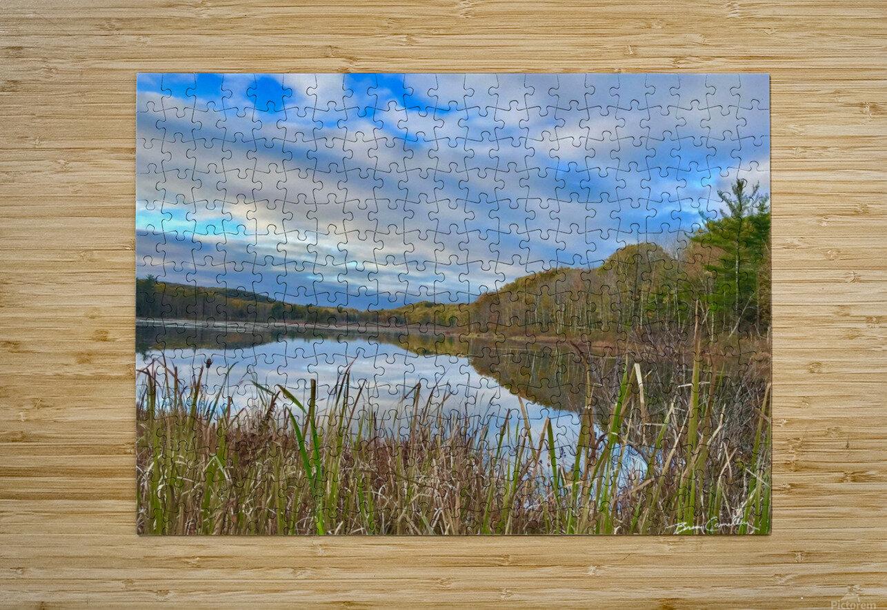 Granville Pond  HD Metal print with Floating Frame on Back