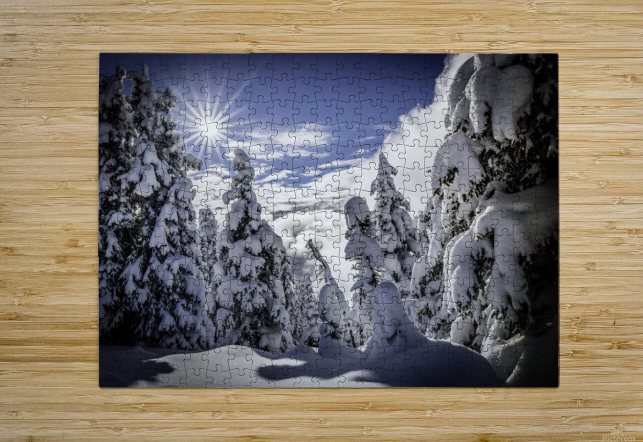 Kootenay Alpine Snow  HD Metal print with Floating Frame on Back