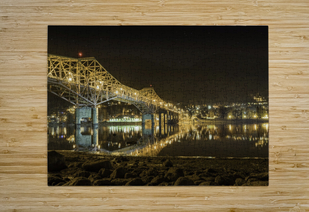 Cold refection under the B.O.B Nelson BC  HD Metal print with Floating Frame on Back
