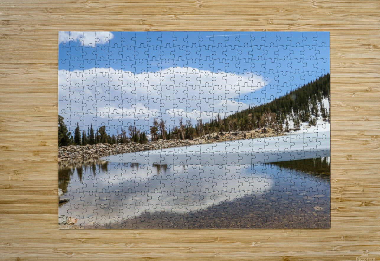 Colorado Glacier  HD Metal print with Floating Frame on Back