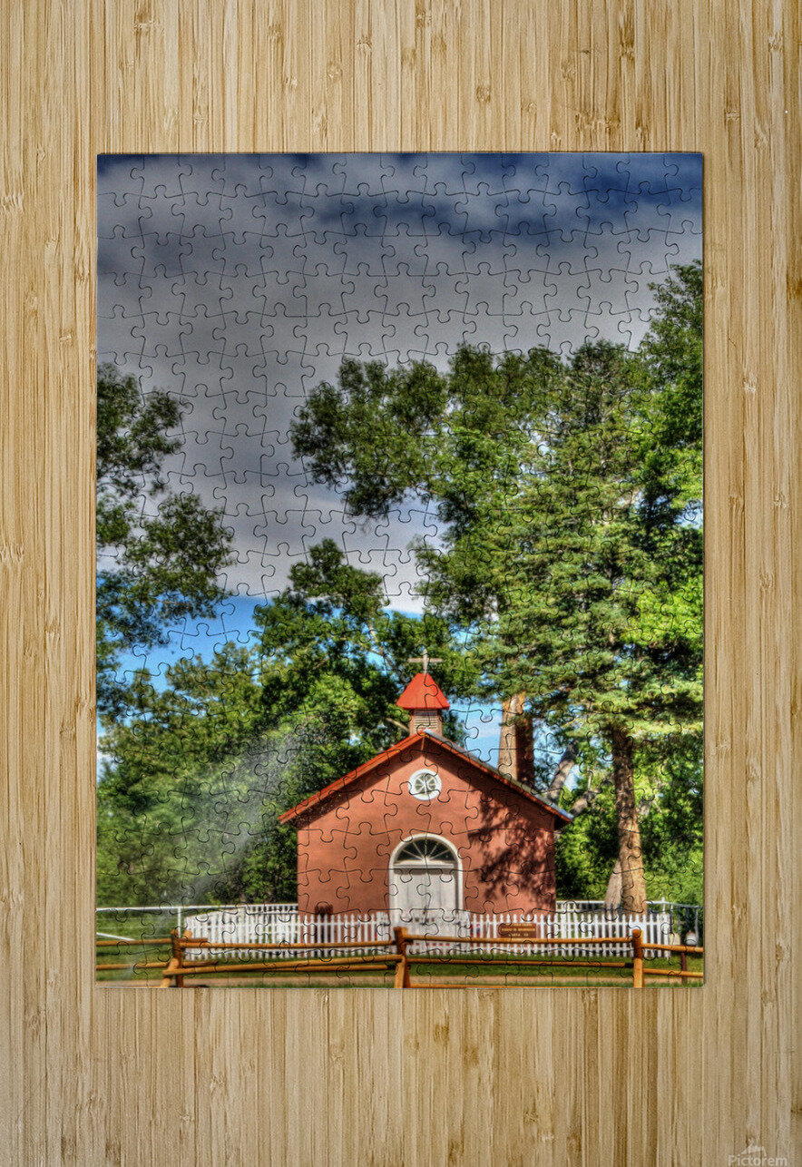 New Mexico Church  HD Metal print with Floating Frame on Back