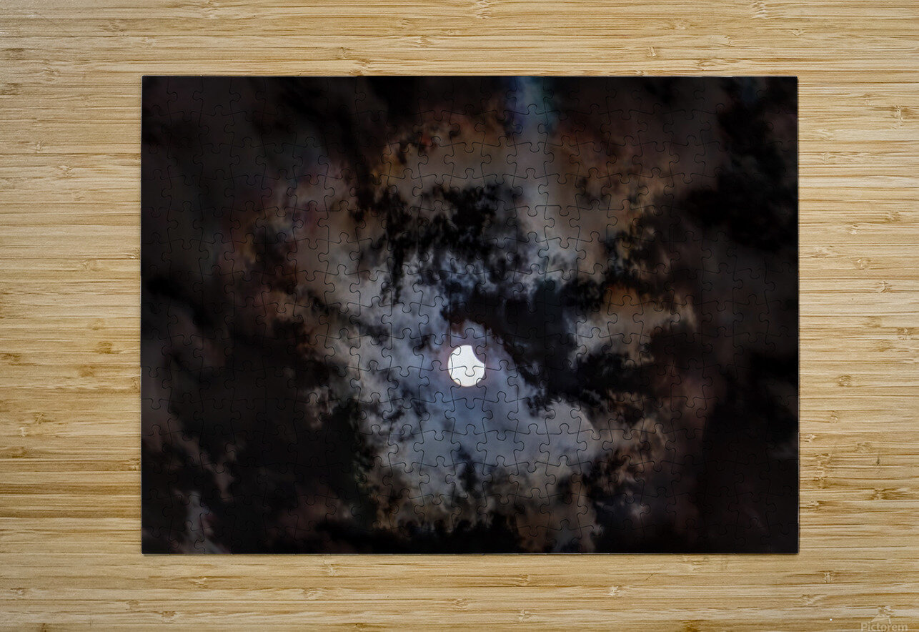 2017 Eclispe  HD Metal print with Floating Frame on Back