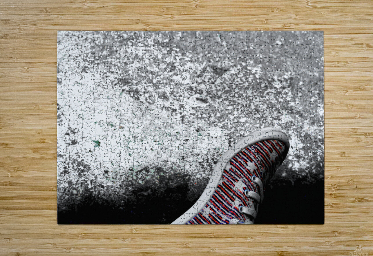 Shoes On  HD Metal print with Floating Frame on Back