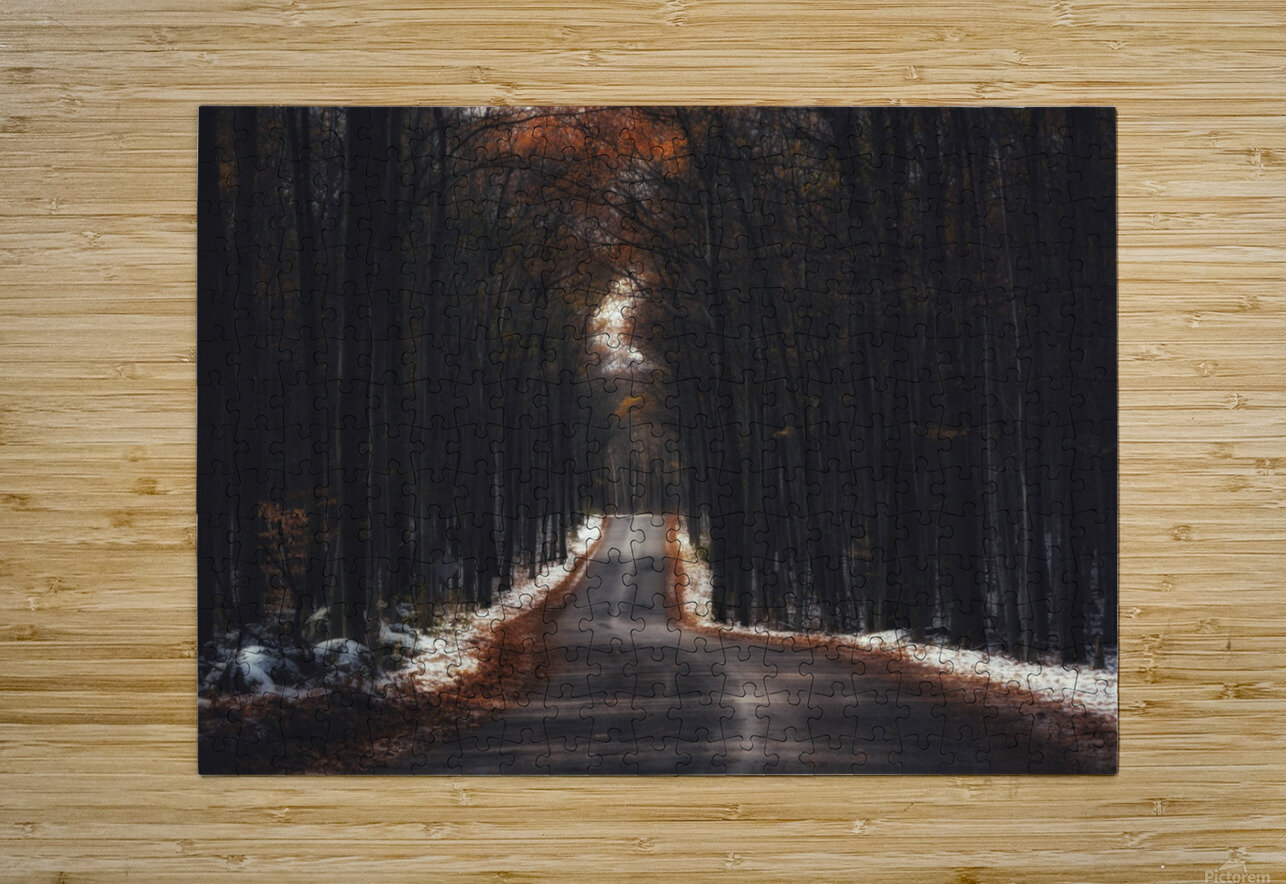 Tunnels  HD Metal print with Floating Frame on Back