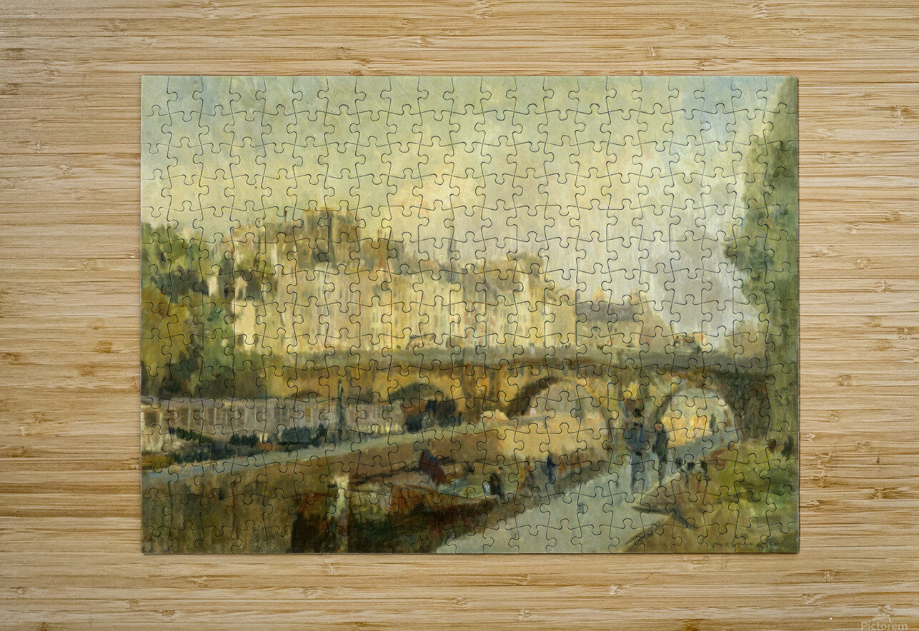 Le Pont Neuf  HD Metal print with Floating Frame on Back