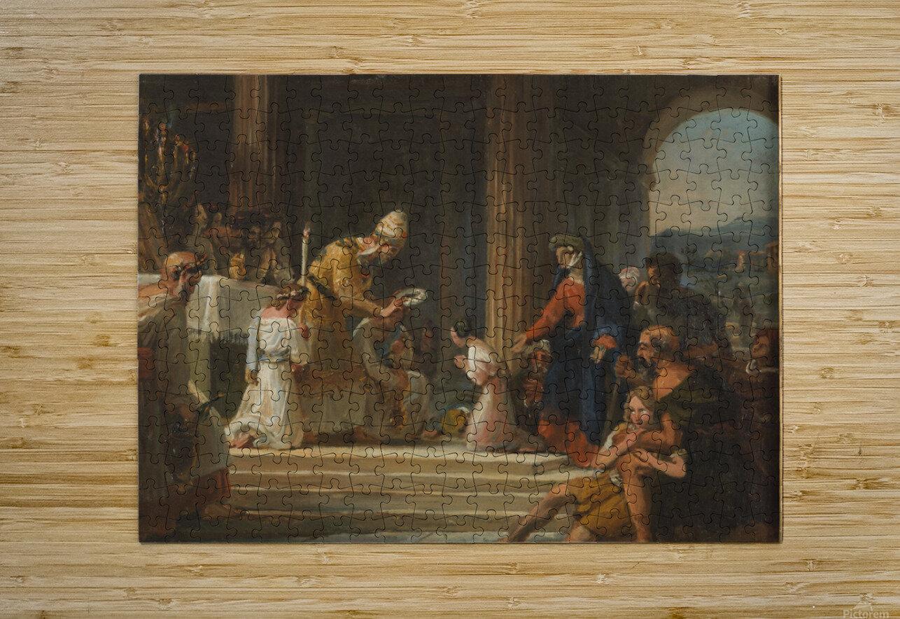 Esquisse pour l eglise Notre Dame de Lorette Consecration de la Vierge  HD Metal print with Floating Frame on Back