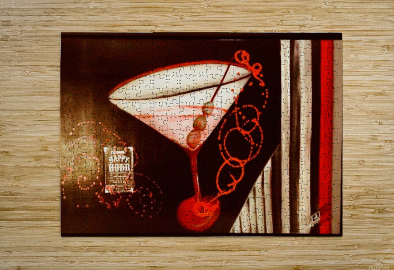 Happy Hour  HD Metal print with Floating Frame on Back