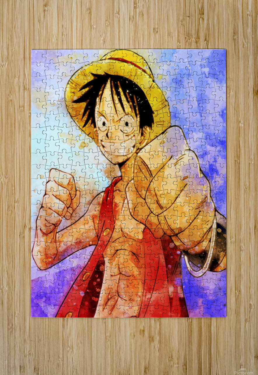 Luffy  HD Metal print with Floating Frame on Back