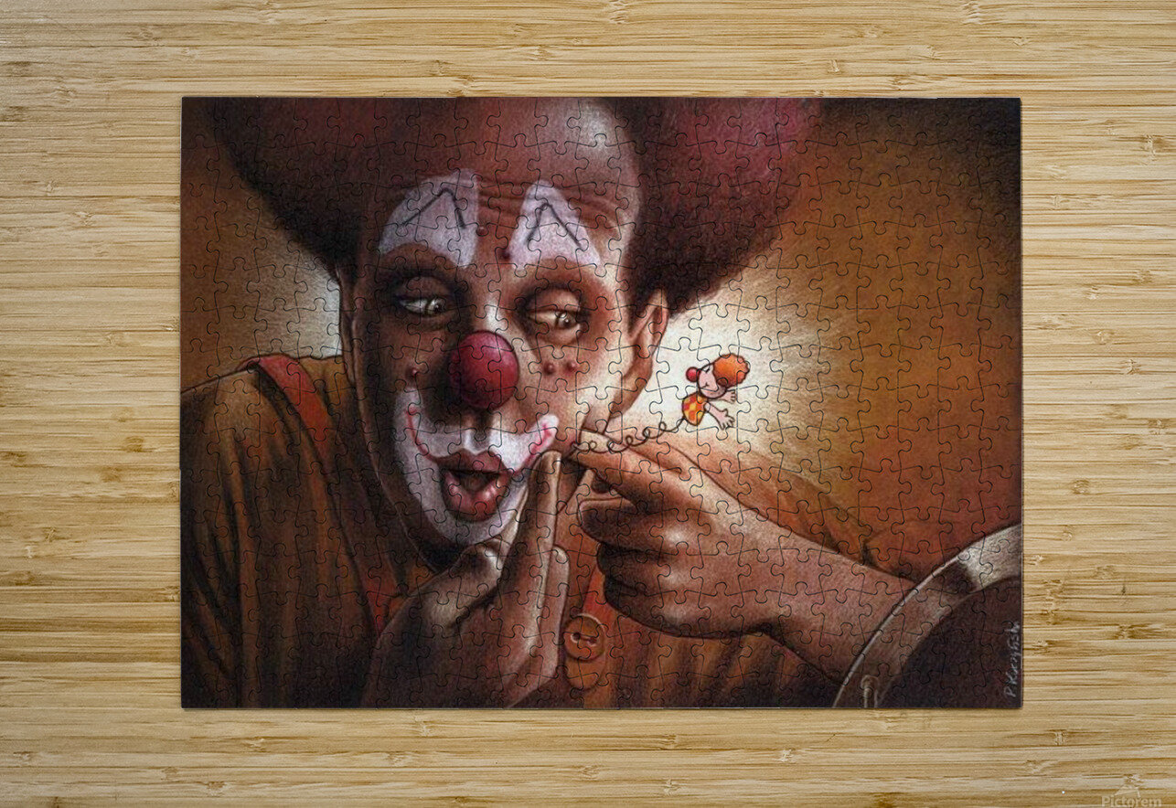 clown  HD Metal print with Floating Frame on Back
