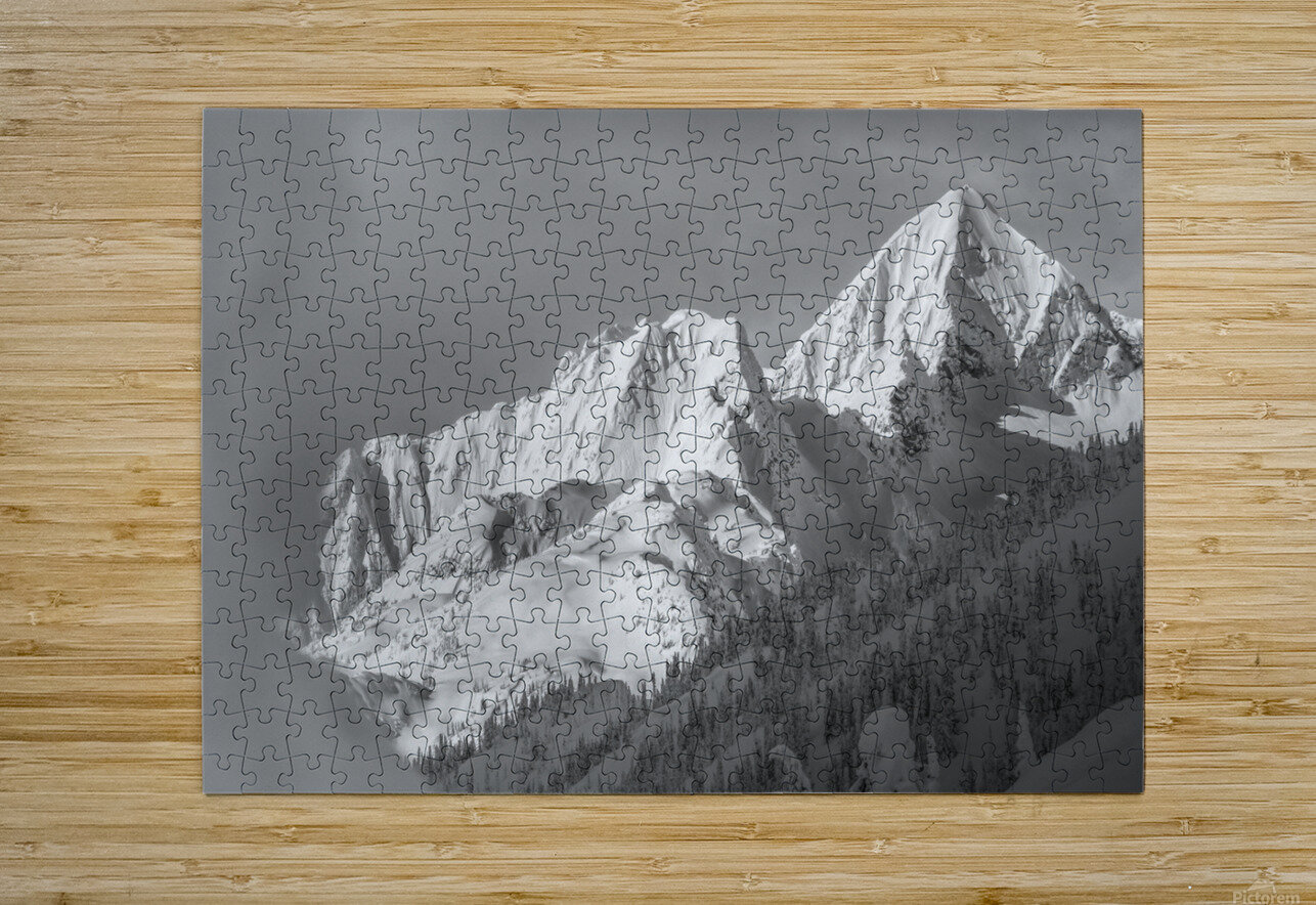 whitewater mountain 1 of 1  HD Metal print with Floating Frame on Back