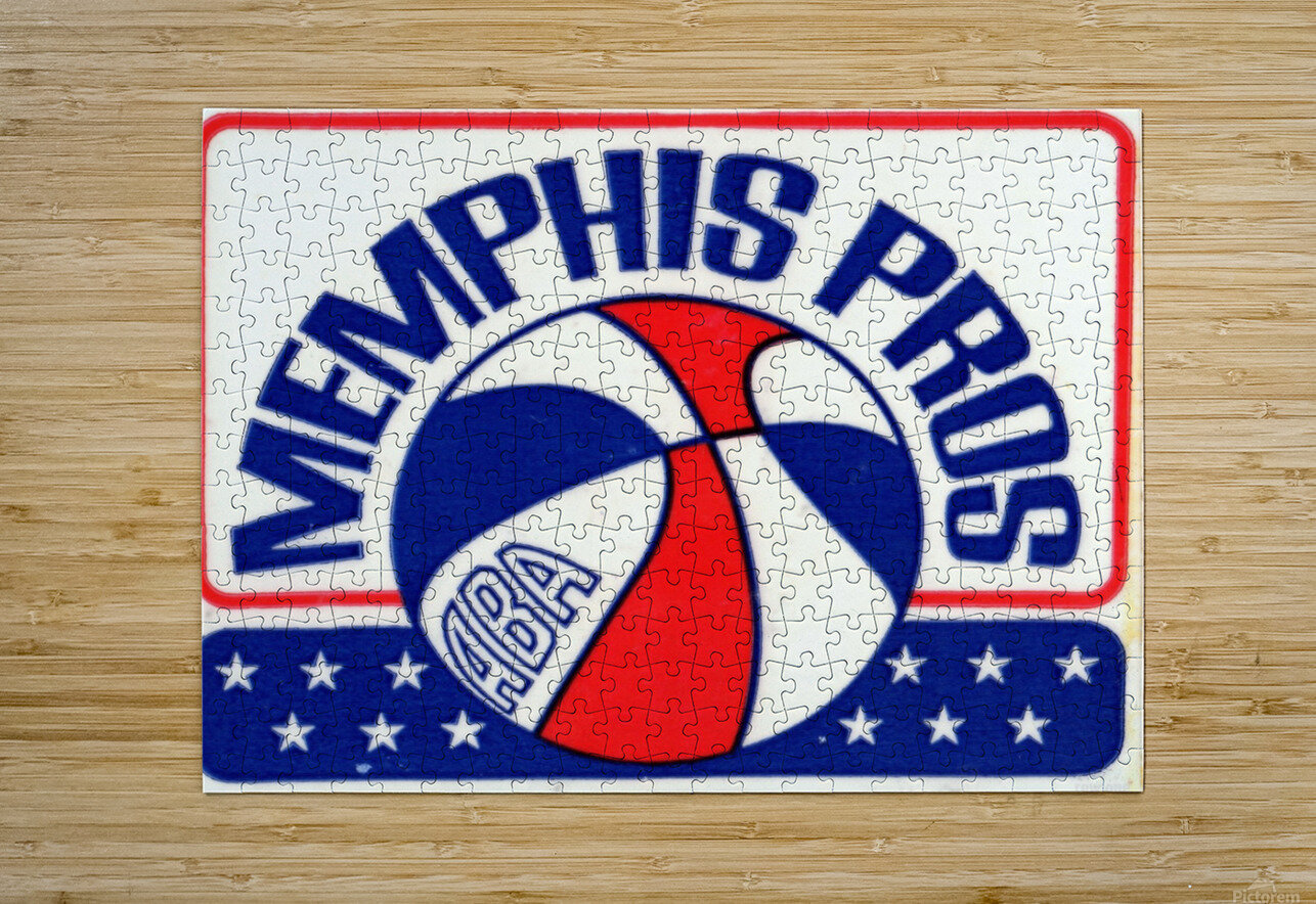 1971_American Basketball Association_Memphis Pros_Row One Brand  HD Metal print with Floating Frame on Back