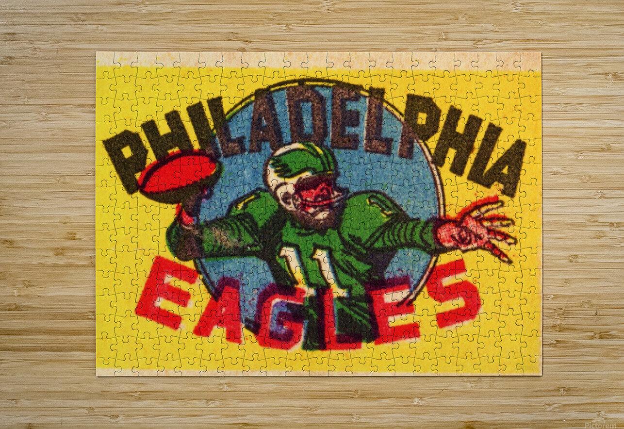 Vintage Philadelphia Eagles QB Art  HD Metal print with Floating Frame on Back