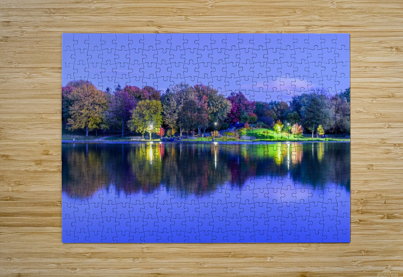 Beaver lake reflection  HD Metal print with Floating Frame on Back
