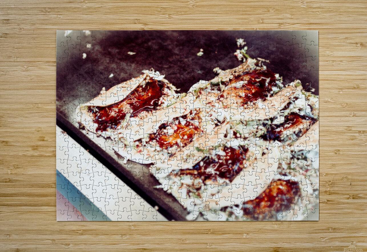 Street Okonomiyaki  HD Metal print with Floating Frame on Back