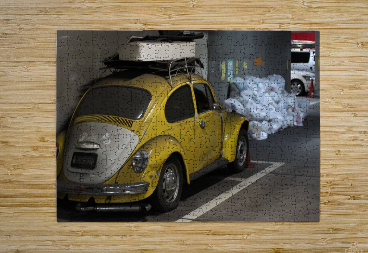 Punch Buggy Yellow No Punchbacks  HD Metal print with Floating Frame on Back
