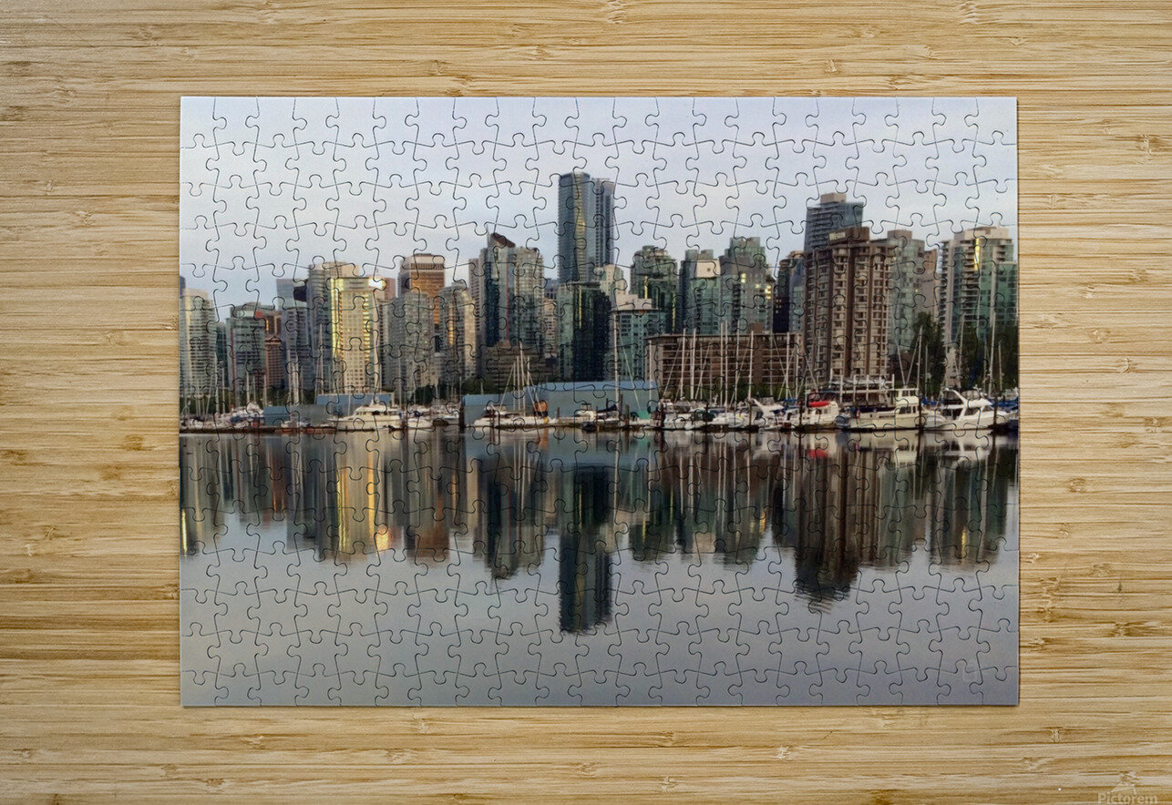 Downtown Reflection  HD Metal print with Floating Frame on Back