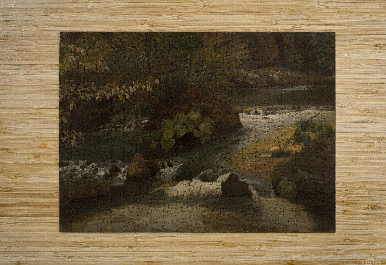 Landscape on a river  HD Metal print with Floating Frame on Back