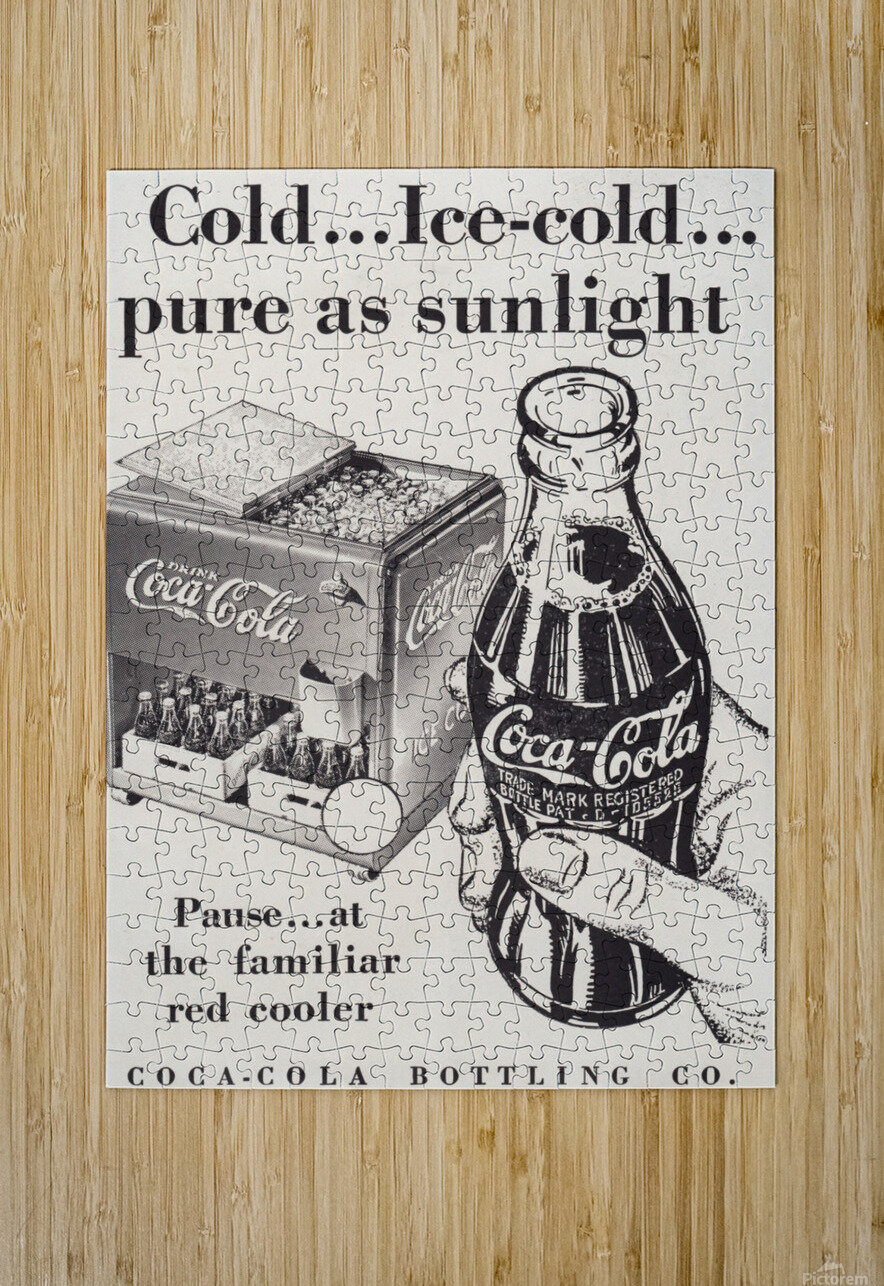 Vintage Coke Ad Bloomington Indiana  HD Metal print with Floating Frame on Back