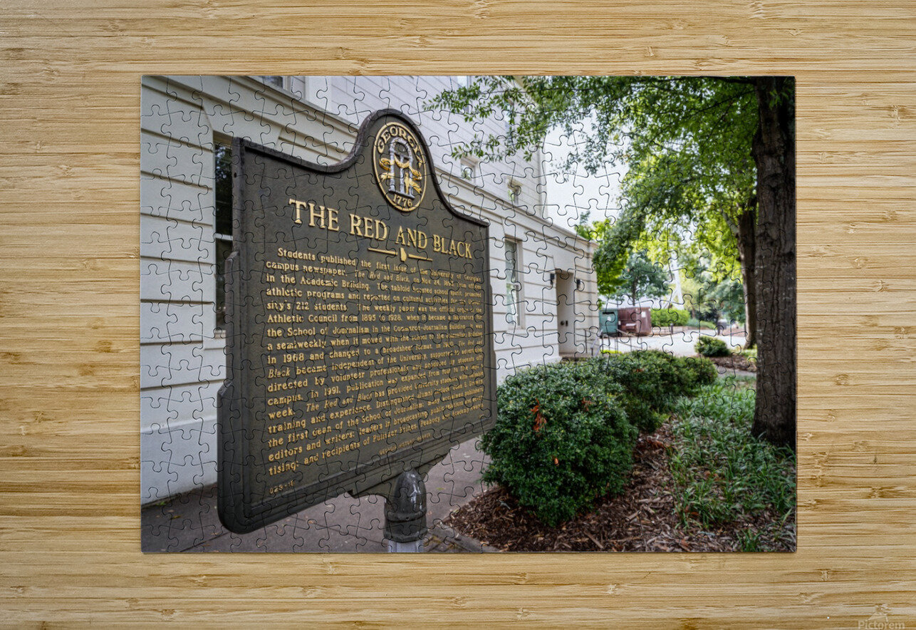 The Red and Balck Marker University of Georgia   Athens GA 9601  HD Metal print with Floating Frame on Back